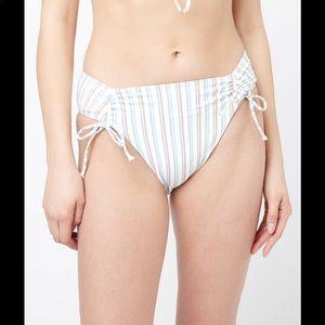 L*space Cabana Stripe Diego Bikini Bottom SZ M